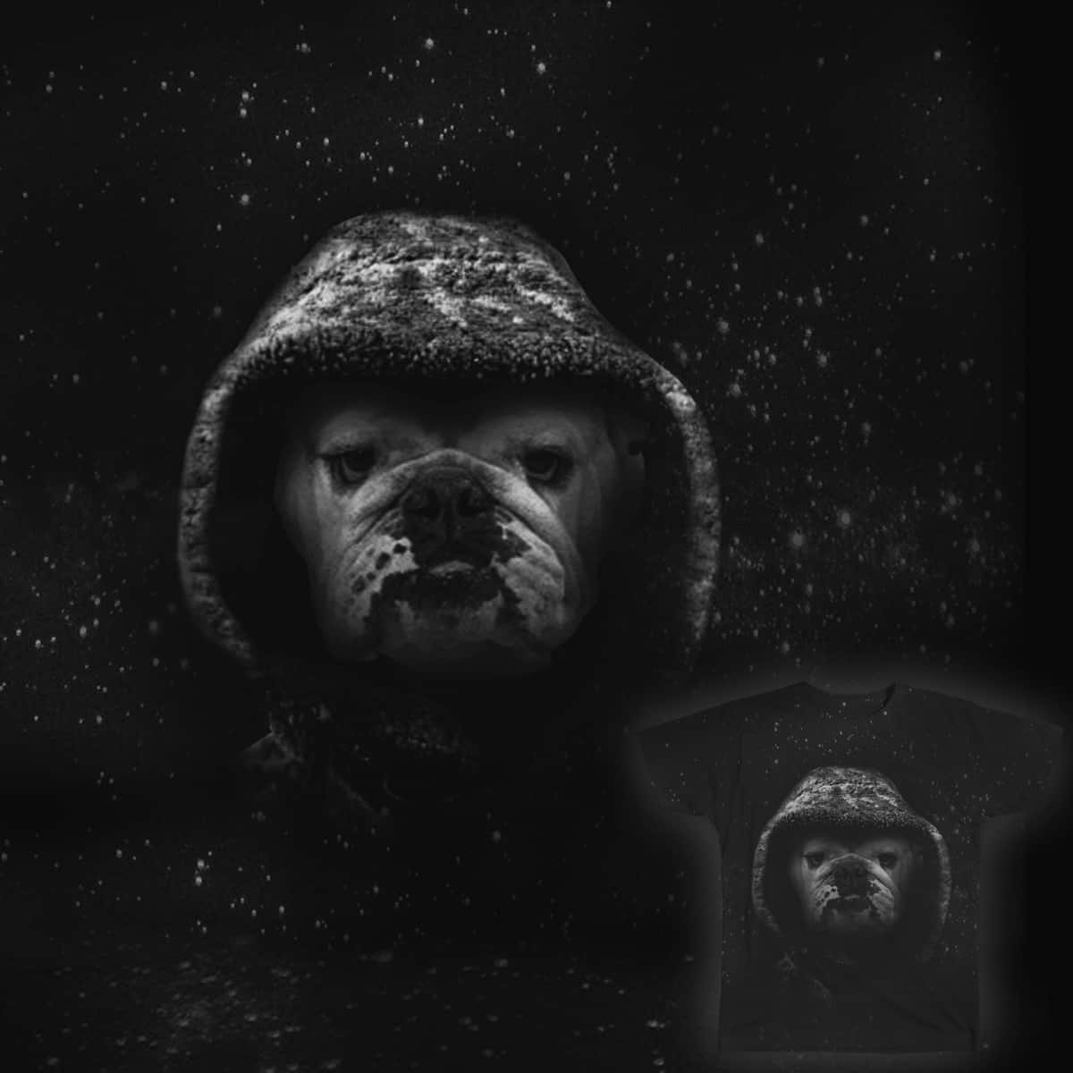 Hooded Bulldog by SylvanH on Threadless