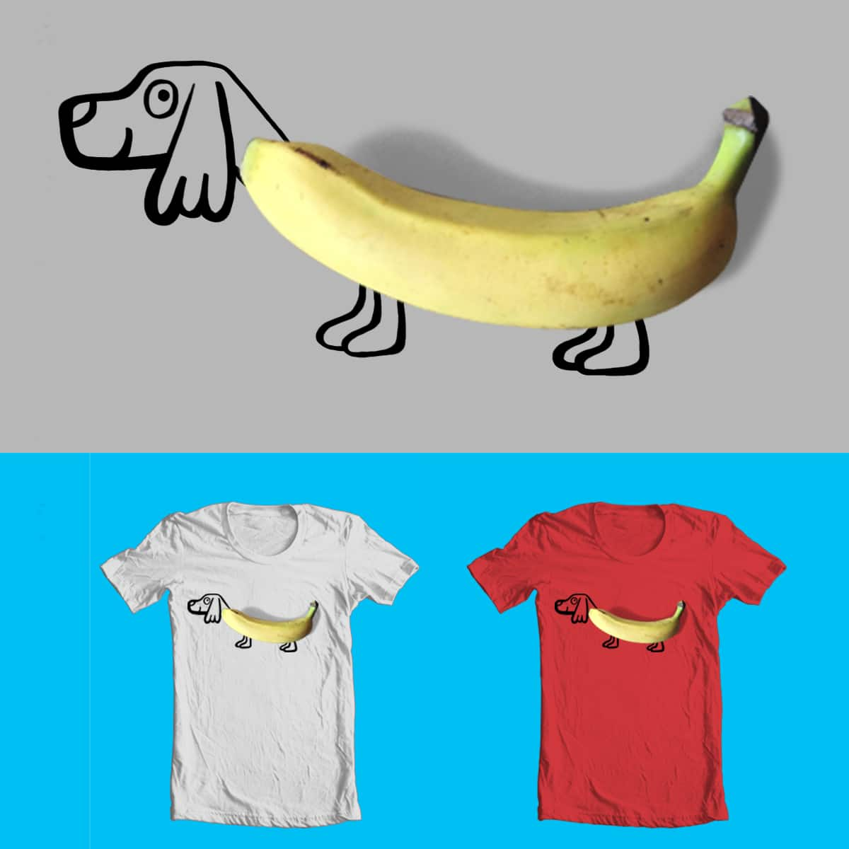 Sometimes a dog looks like a banana by bendablerubber on Threadless