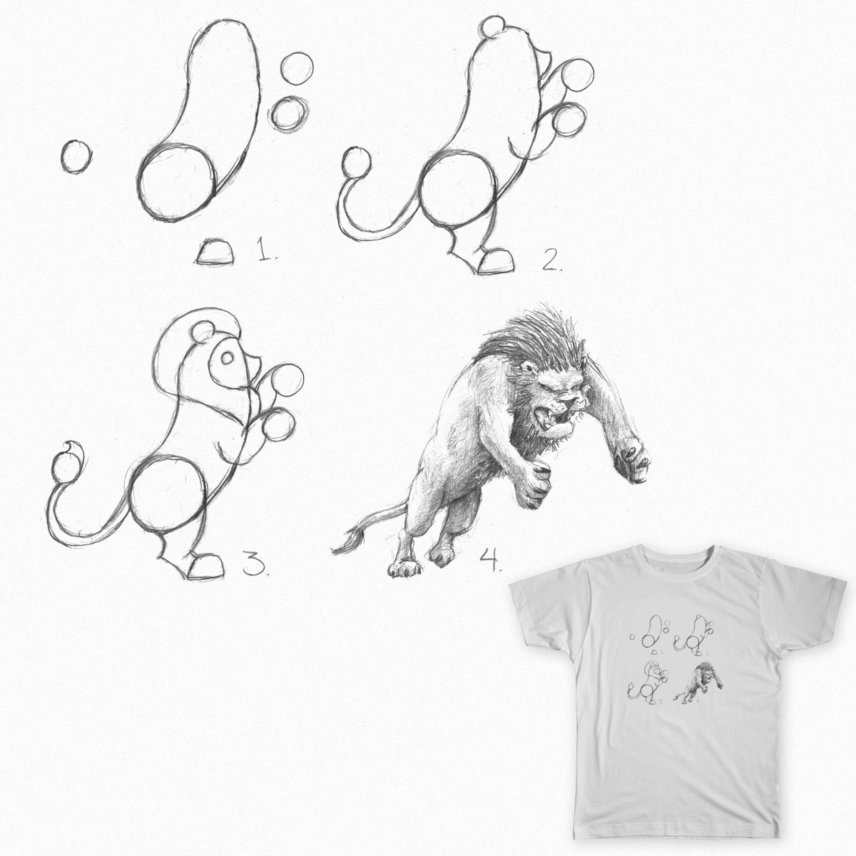 How To Draw a Lion by naters-art on Threadless