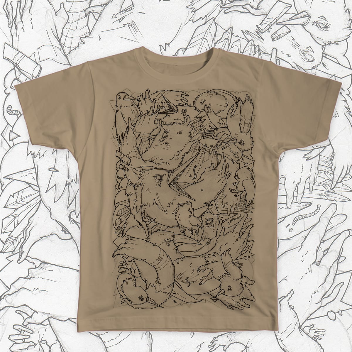 Birds handwing by Jose Saenz on Threadless