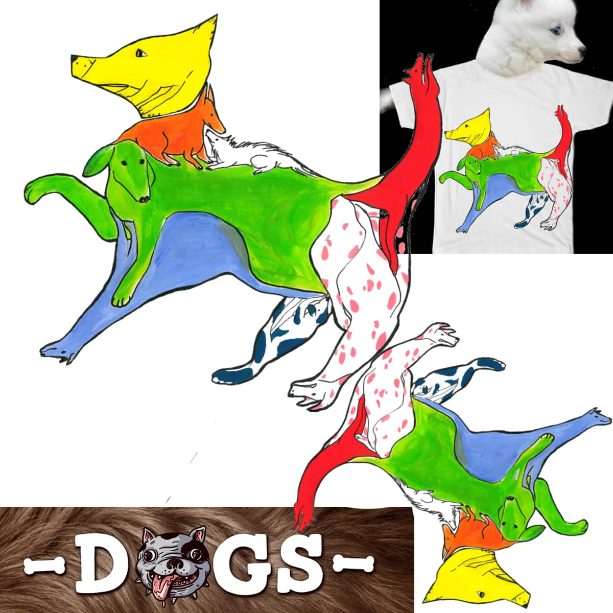 dogs are made of dogs by ranDomdaconte on Threadless