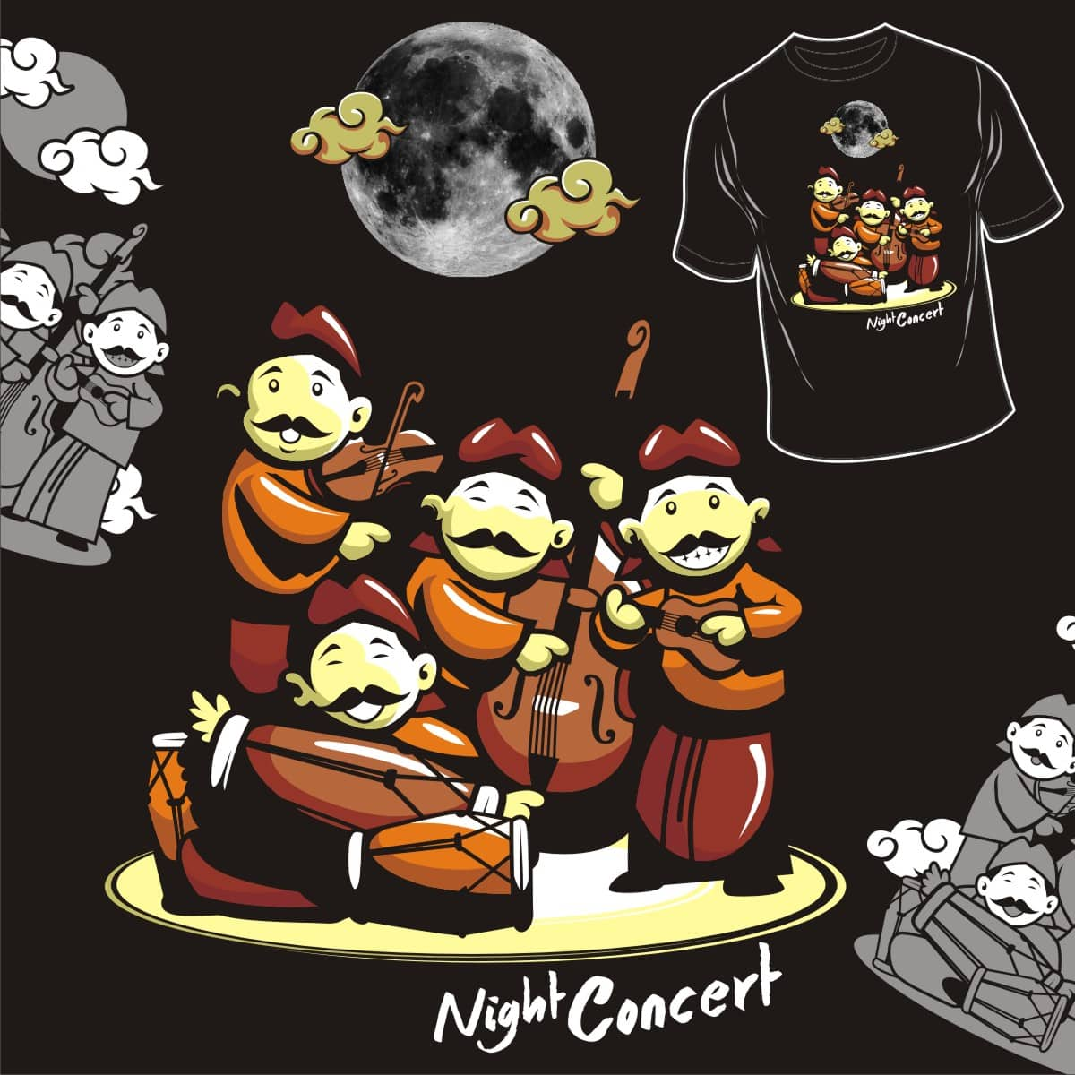 night concert by agha and sibYou on Threadless