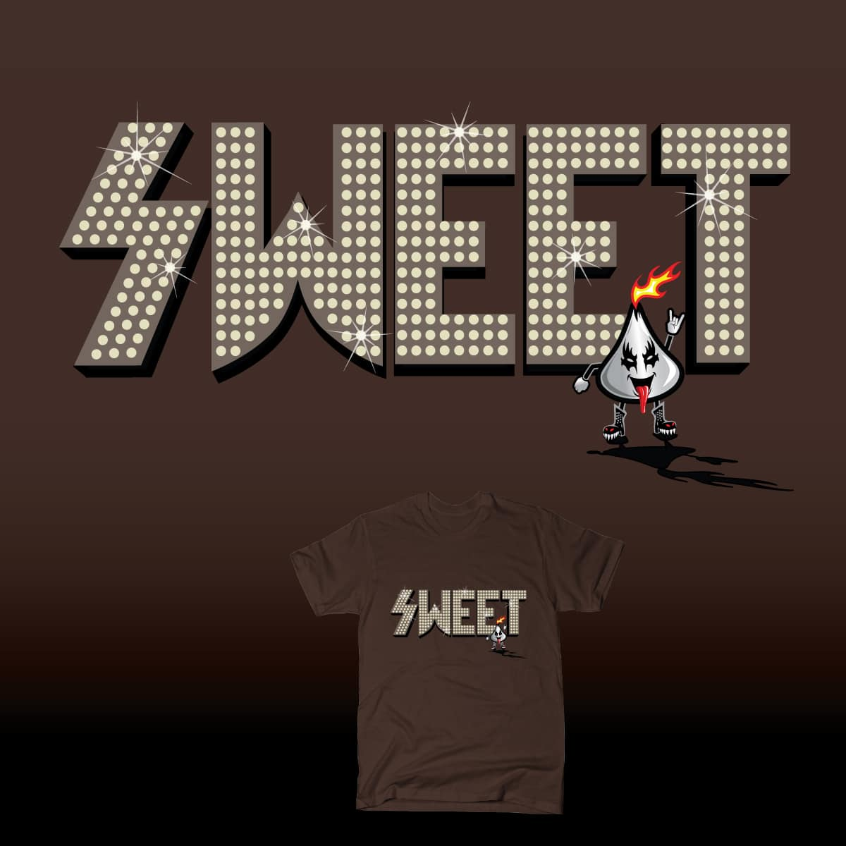 Chocolate KISS by HomesliceTEES and Elena136 on Threadless