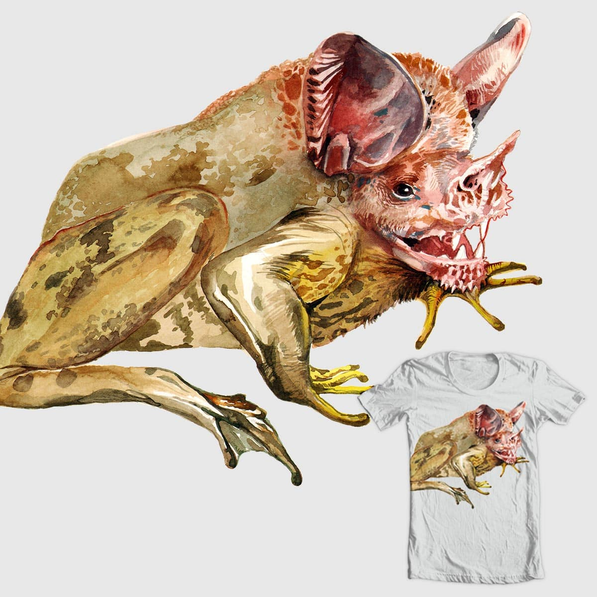 Toad Bat Chimera by Meowlynn and JLawDev on Threadless