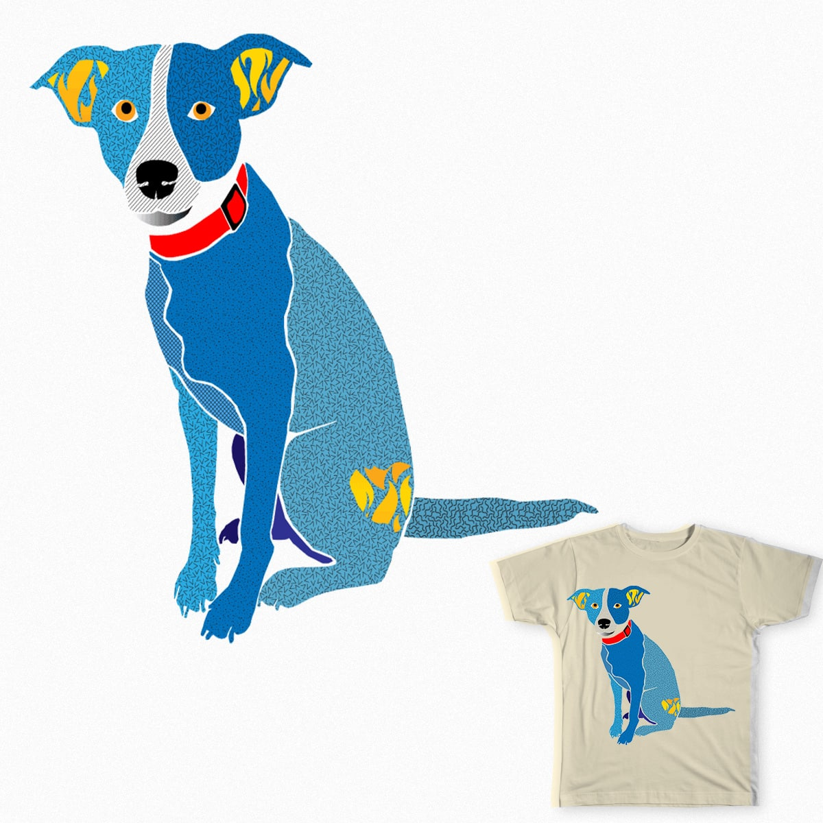 Blue Piper by Kelly.Boyer.Brookshire on Threadless