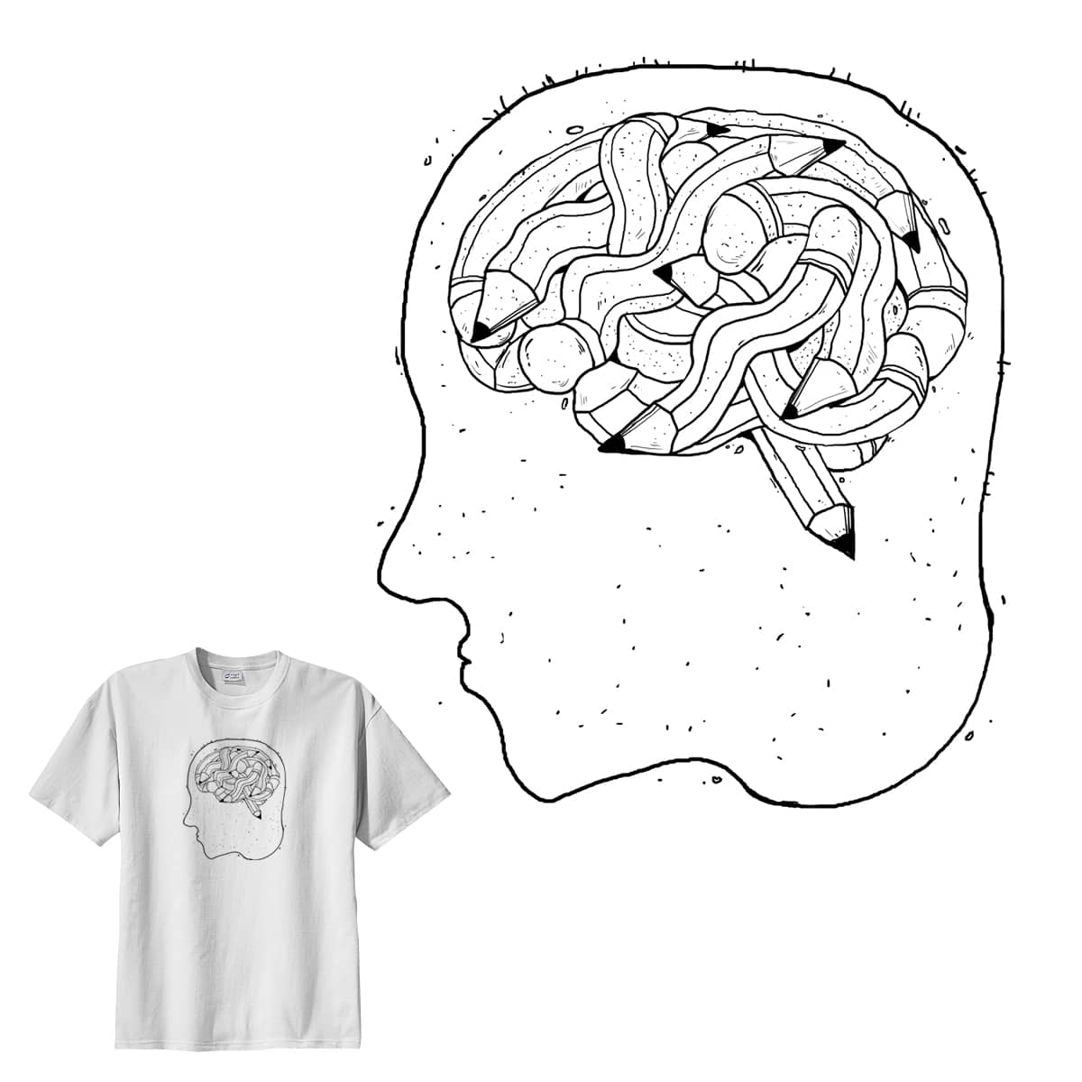 the brain of sketch artist by ipungkurniawan on Threadless