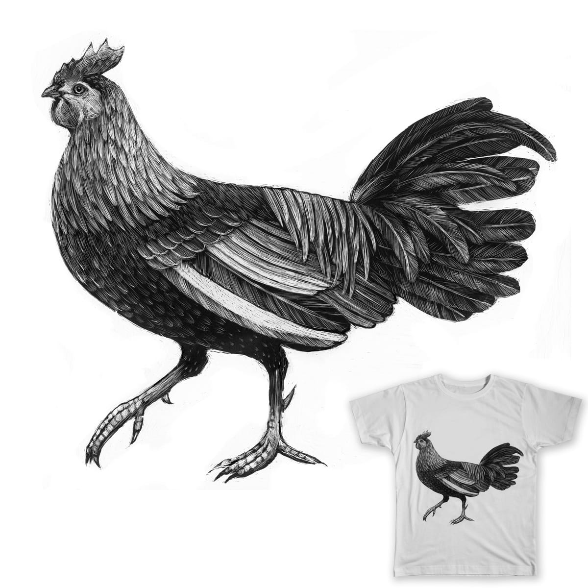 Rooster by Lumichee on Threadless
