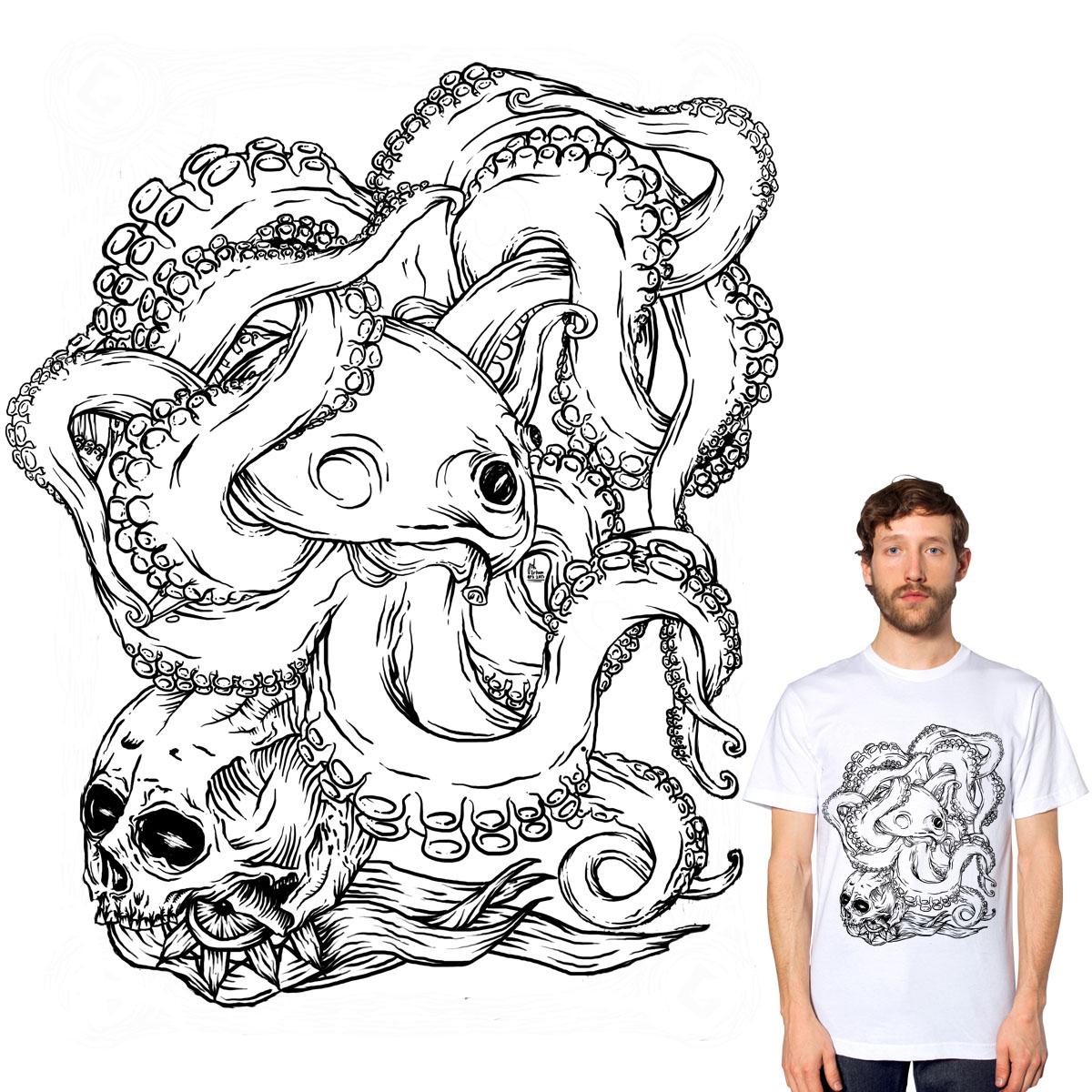 octopuskull by gupikus on Threadless