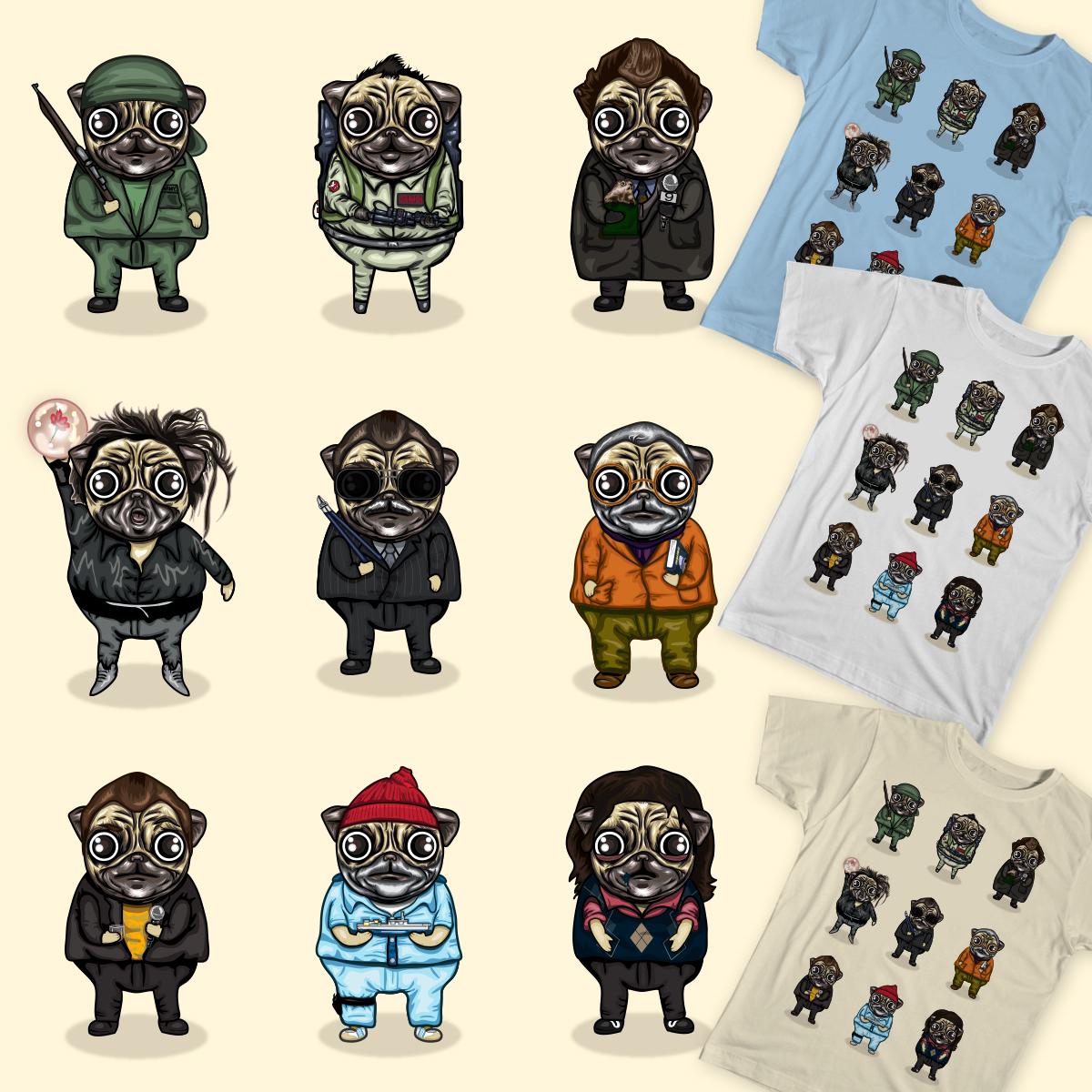 Pug Murrays by AdamCain on Threadless