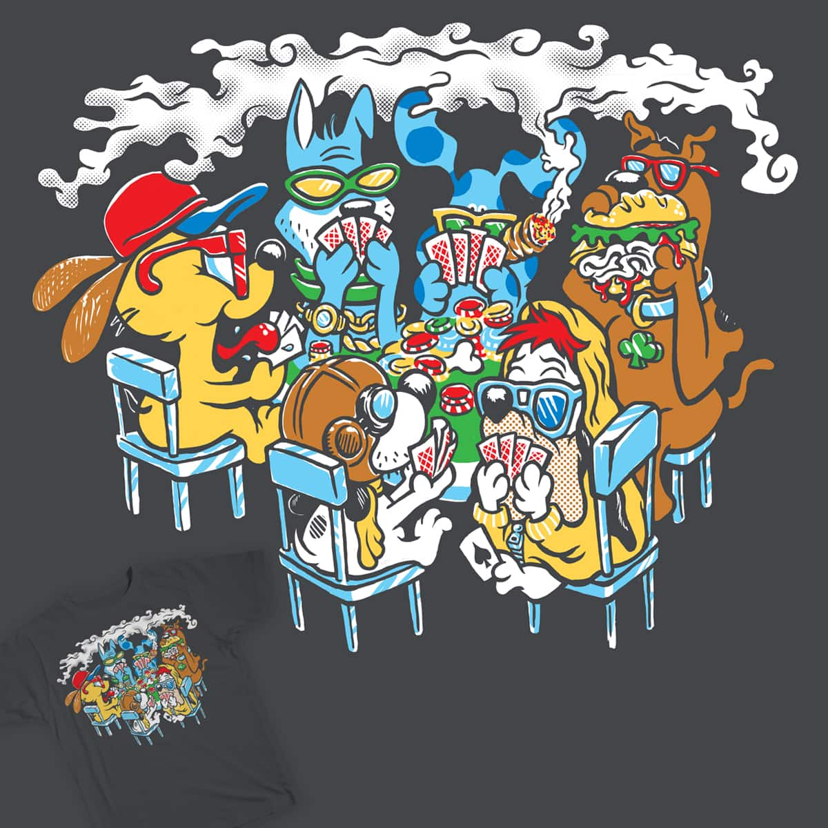 Fictional Dogs Playing Poker by herky on Threadless