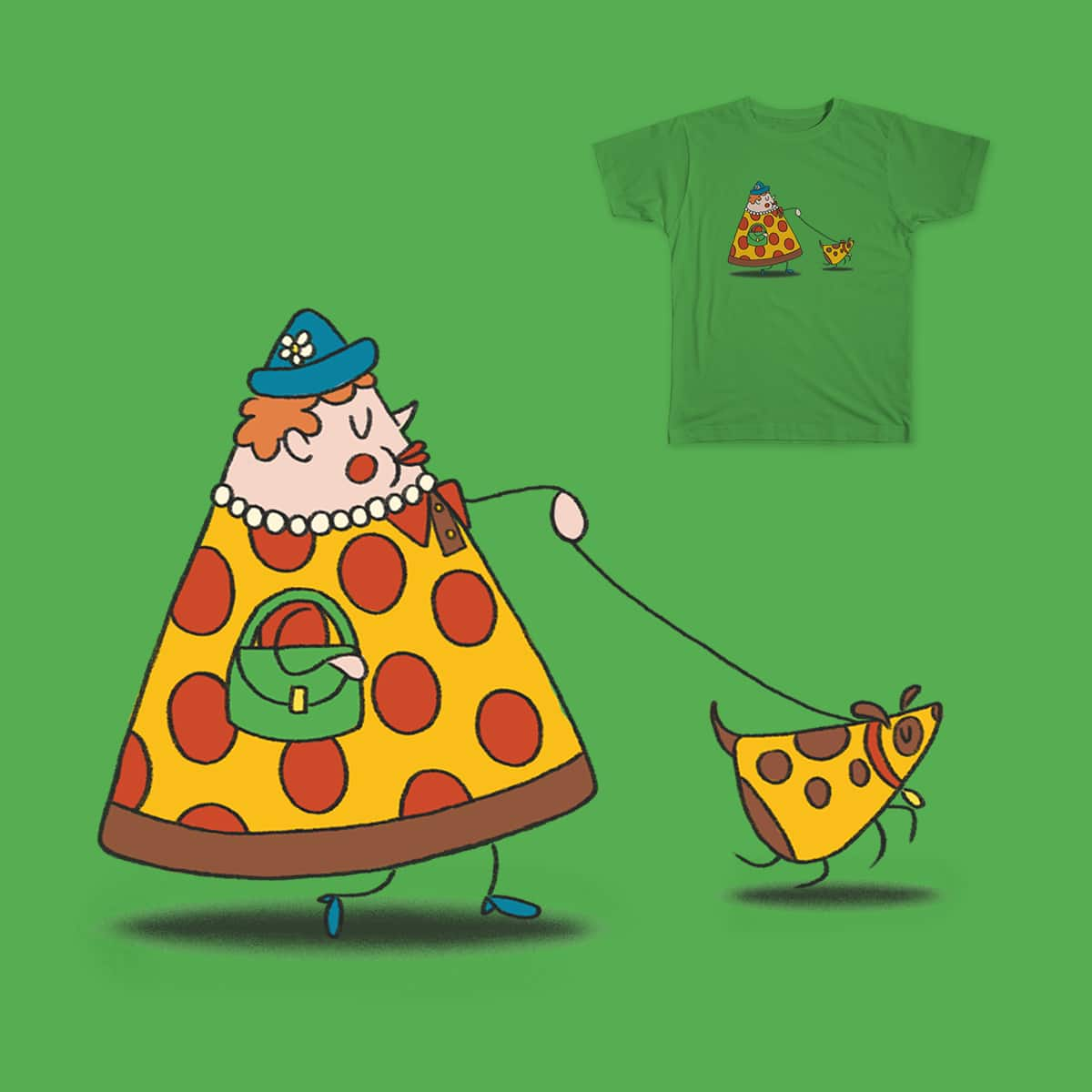 Pizza person, pizza dog by cathy-rine on Threadless