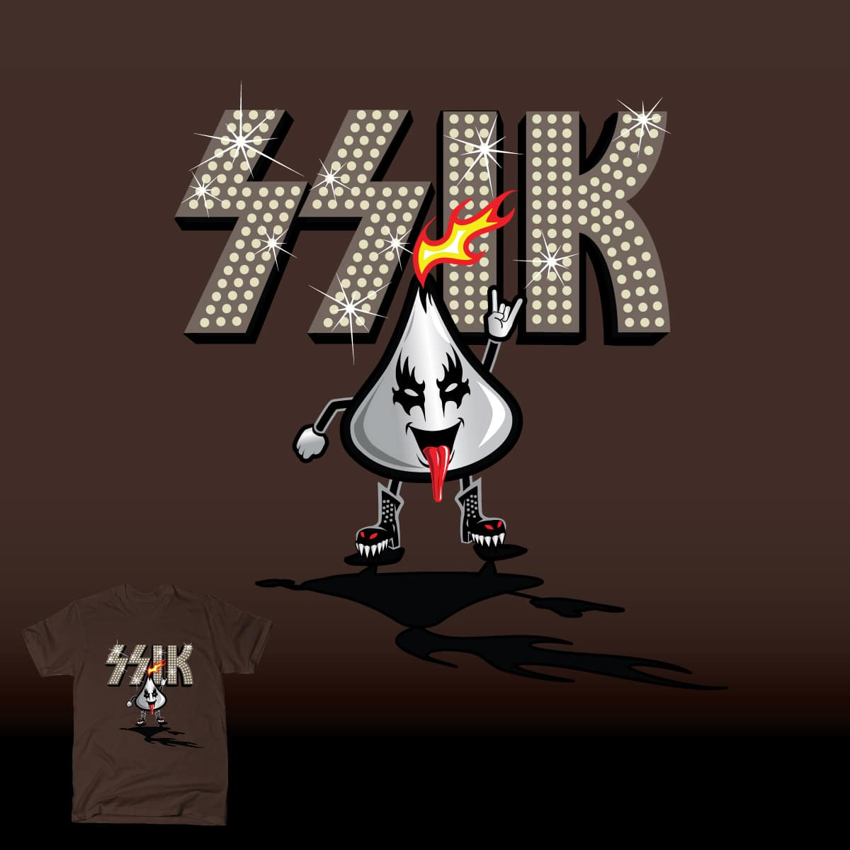 Dark Chocolate KISS by HomesliceTEES and Elena136 on Threadless