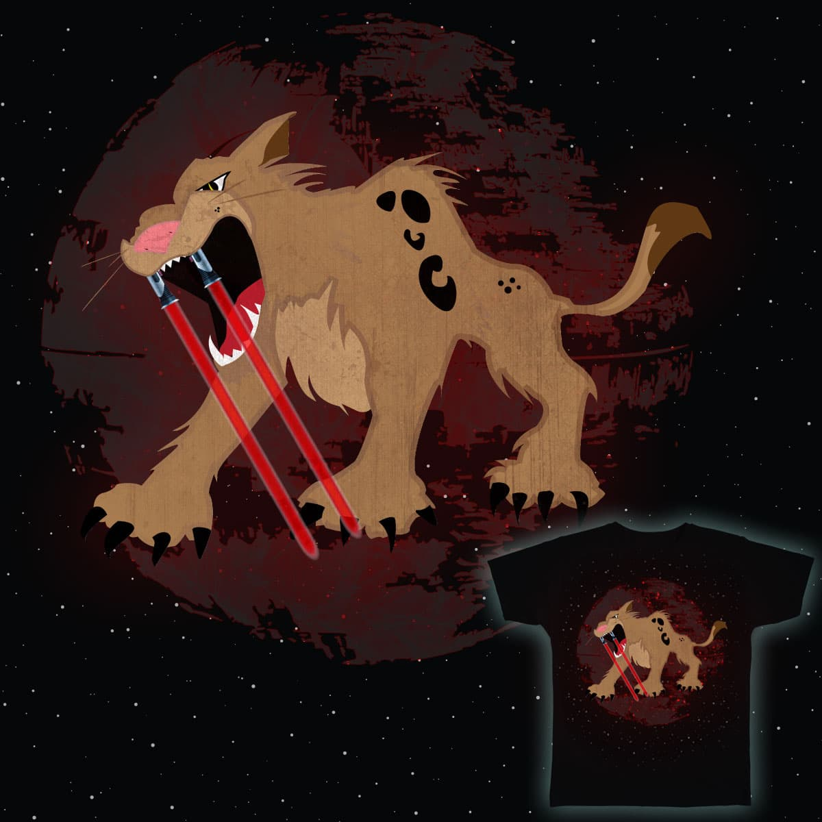 Saber Tooth Tiger by KirbyMack and VinayMehta on Threadless