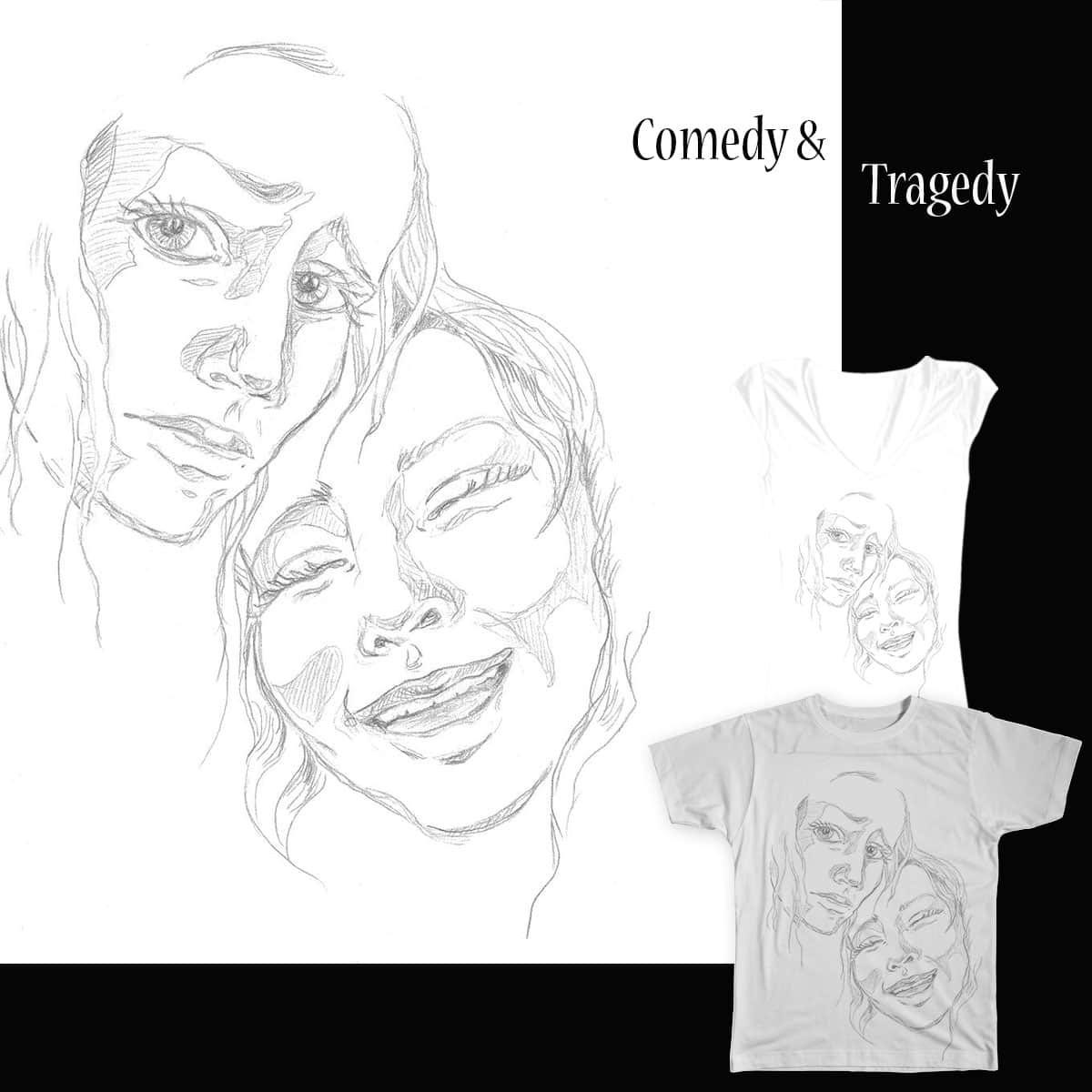 Tragedy and Comedy by ShannonAsja  on Threadless