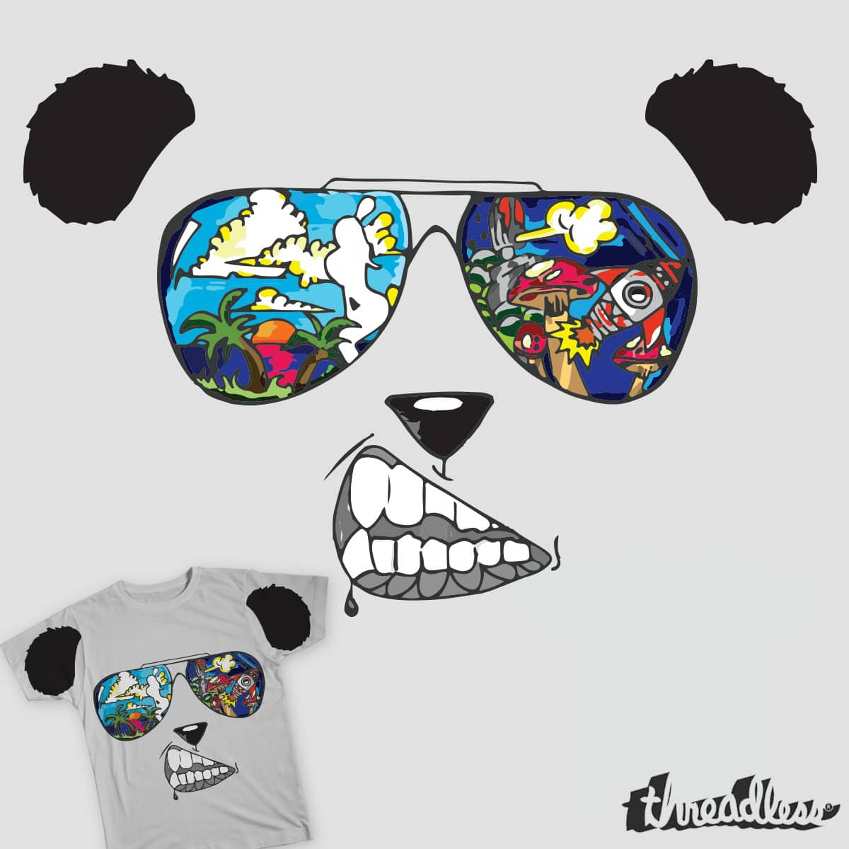 Paradise Panda by slade92 and S-Marley on Threadless