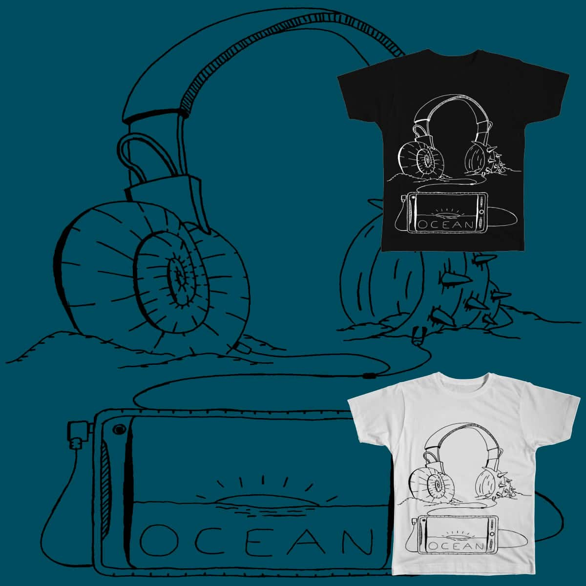 Listen to the Ocean by Dr_Donoh-onovan on Threadless