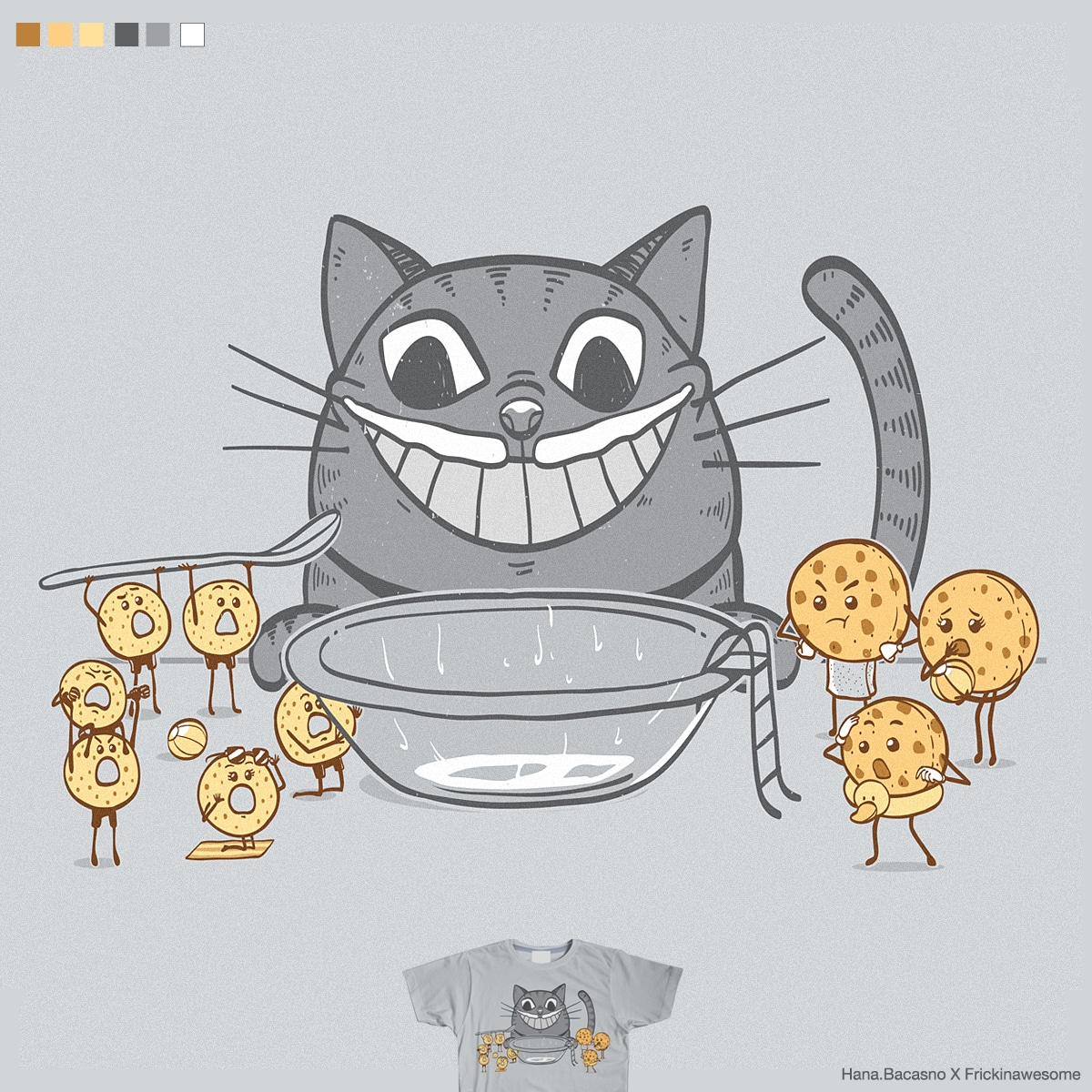 Kitty Ruins Everything by FRICKINAWESOME and rhobdesigns on Threadless