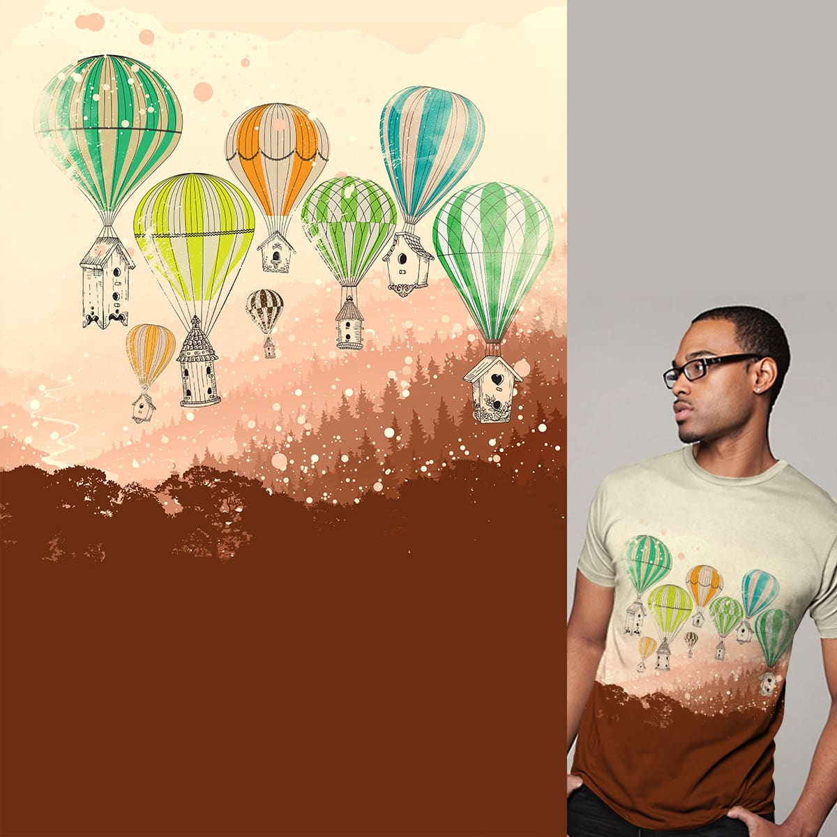 CITY OF BALLOONS by kimkong1014 on Threadless
