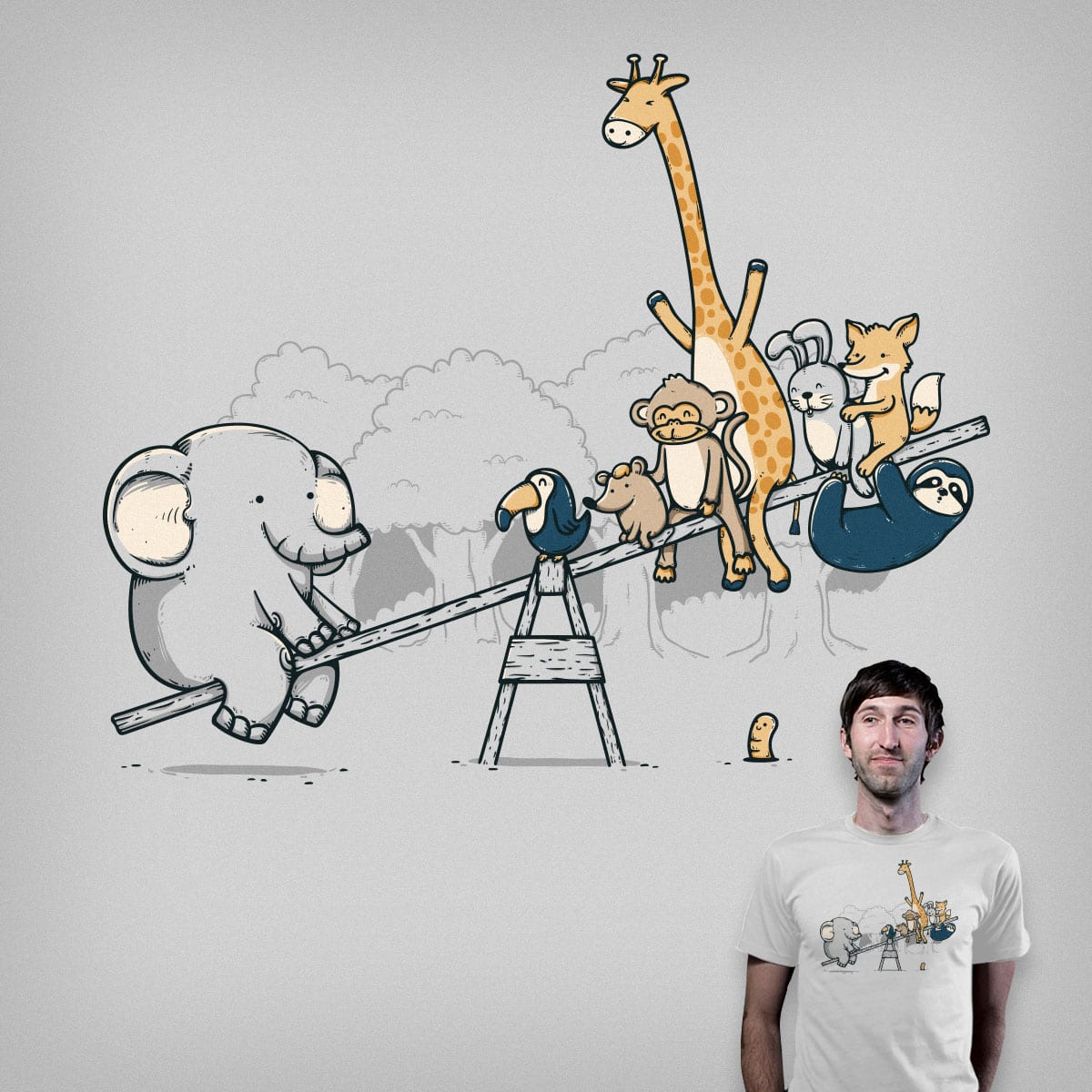 Balanced Ecosystem by Robo Rat and je14 on Threadless
