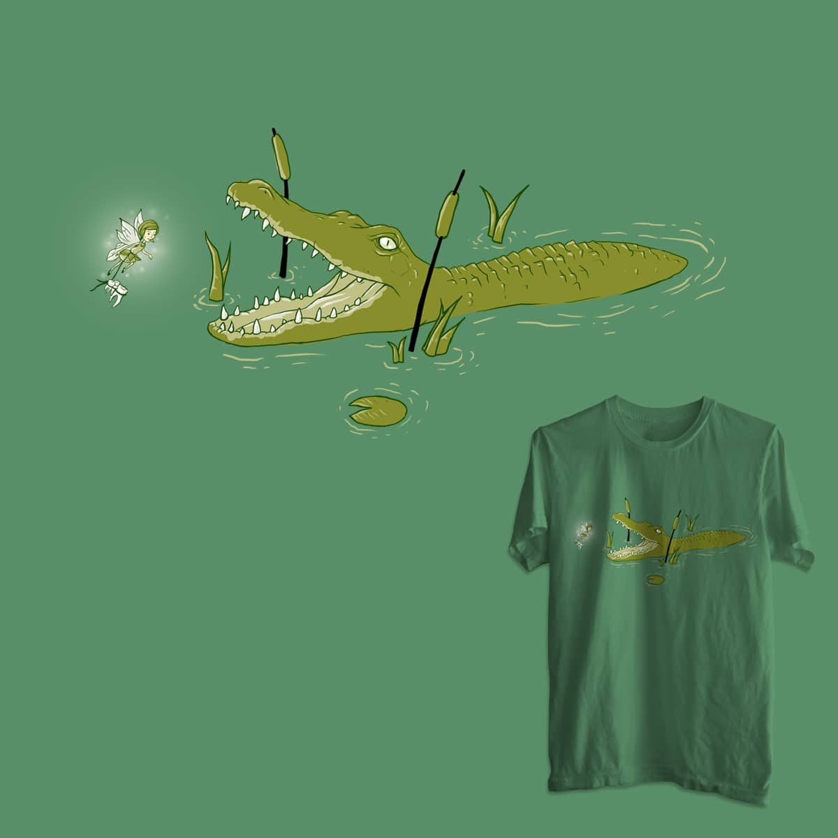 Gator Snack by Milan_ and goliath72 on Threadless