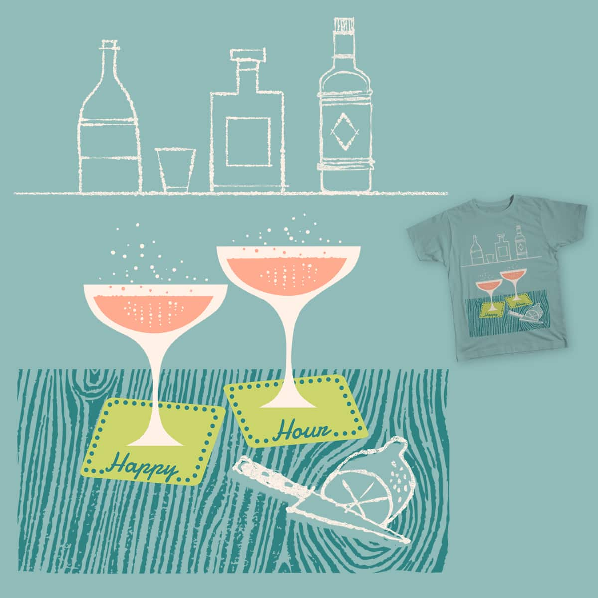 Happy Hour by expomonster on Threadless