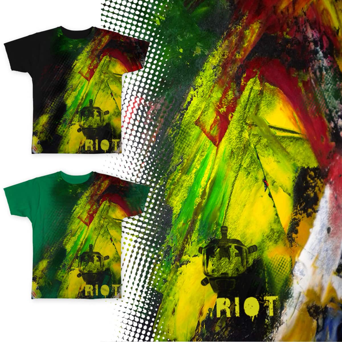 RiOT witH cOLour by darEyiO and ARTyNAgia on Threadless