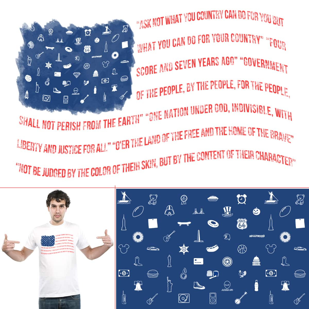 As American as... by soloyo and sachpica on Threadless
