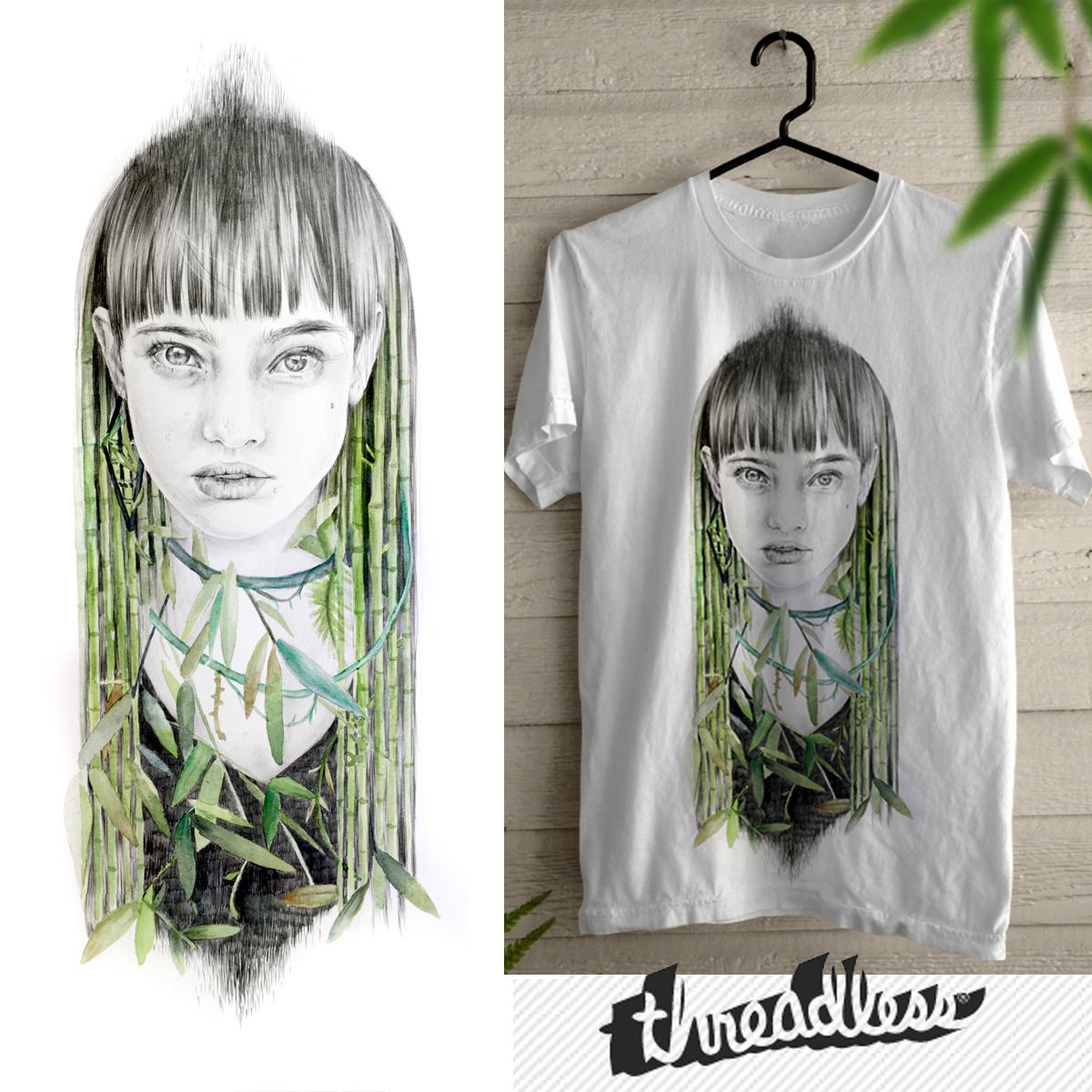 Bamboo girl by naranjalidad on Threadless