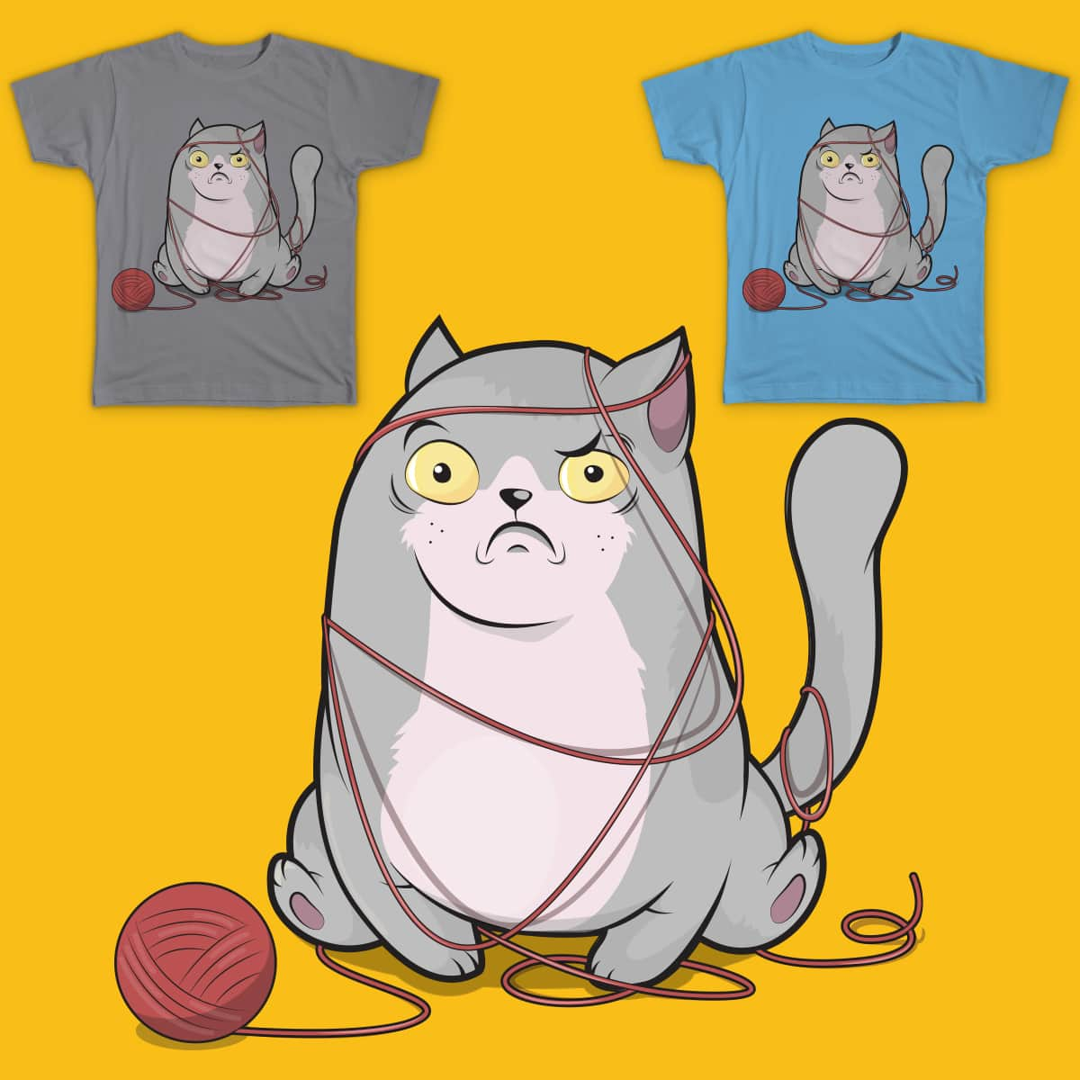 The Tangled Cat by koboox and alexpestov on Threadless