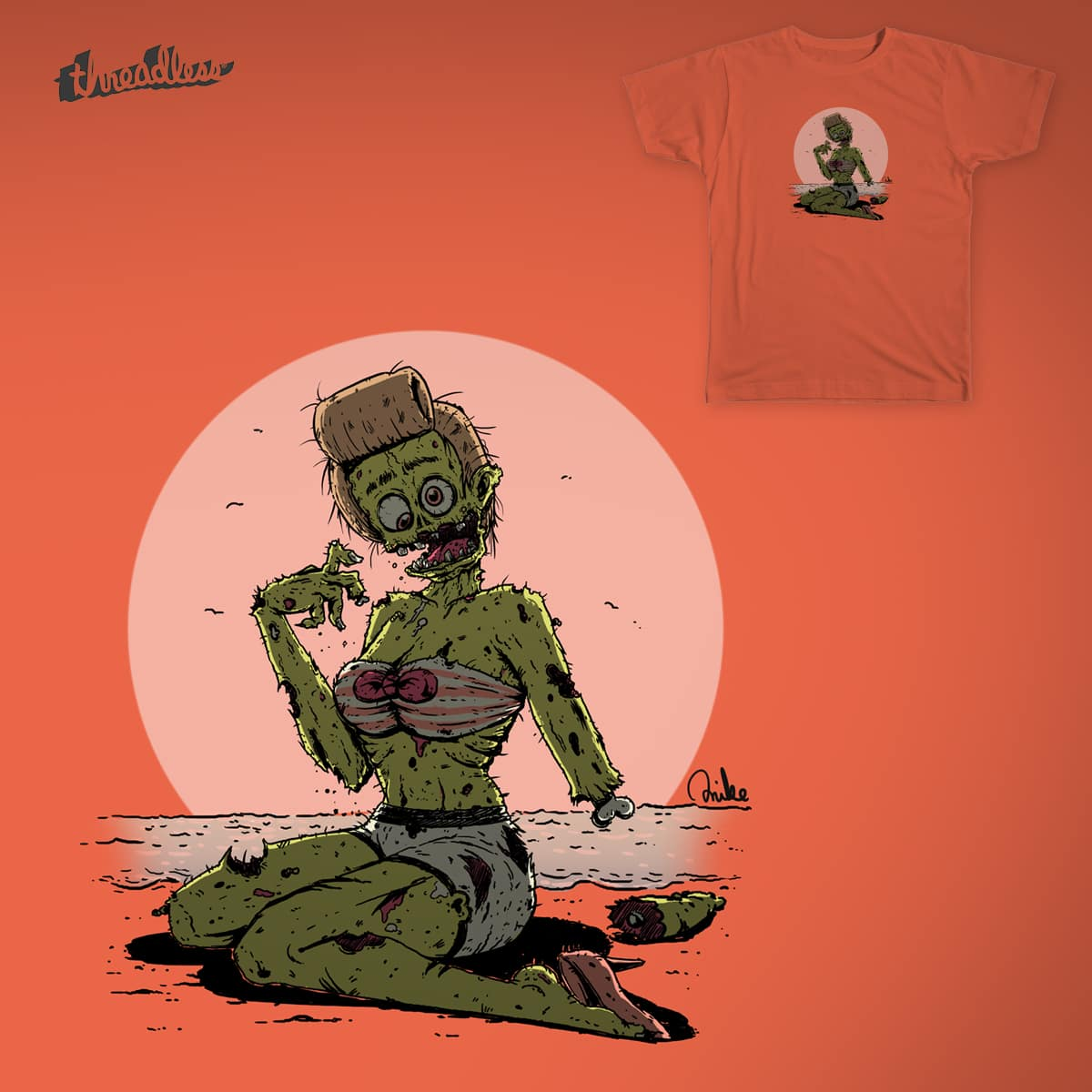 Zombie Pin-up by Draw_it_Mike on Threadless