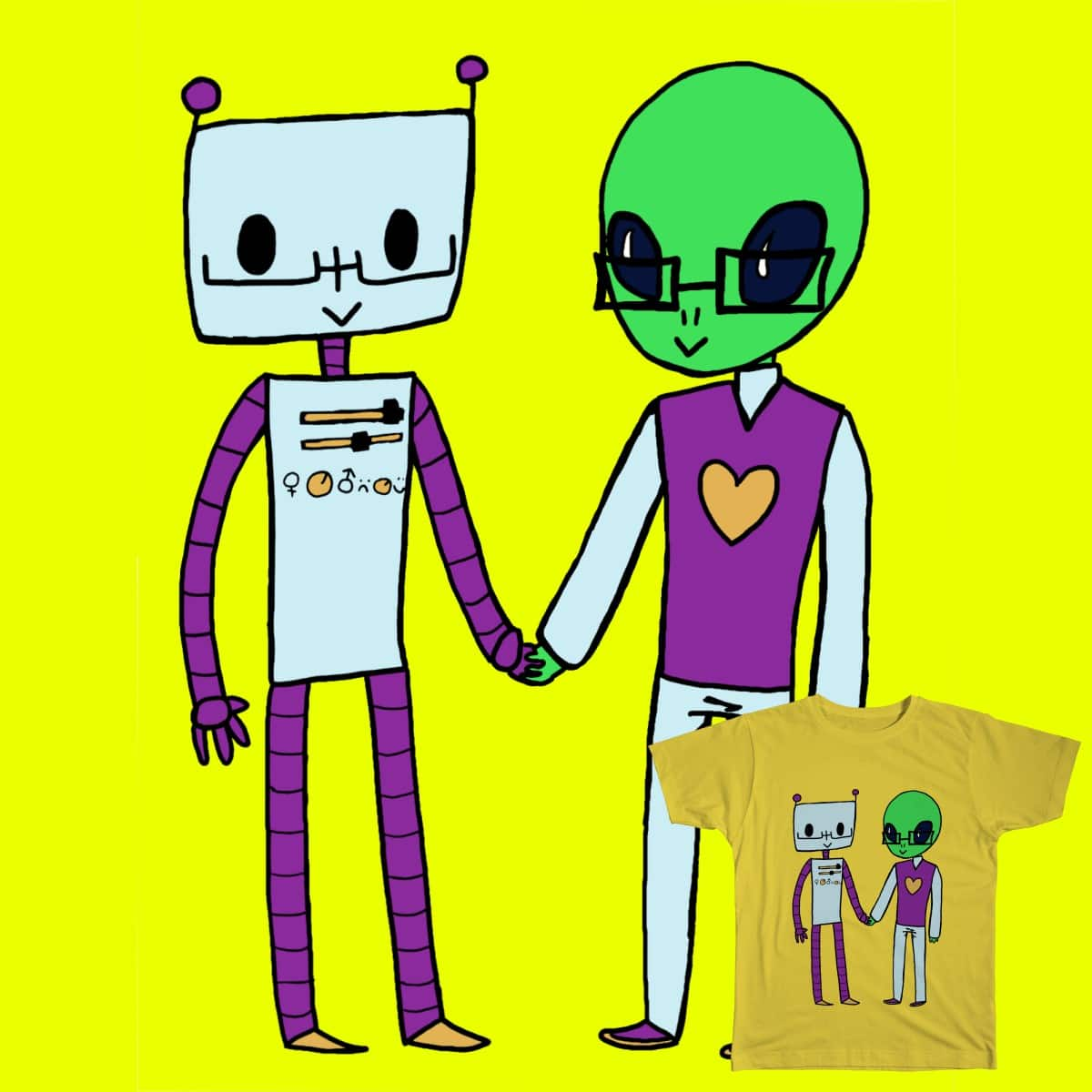 Let's Join Forces! by dannyConfused and fridafridafrida on Threadless