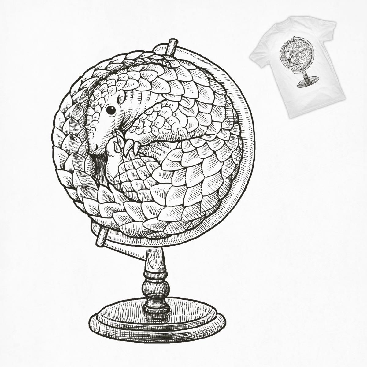 Pangolin Globe by ben chen on Threadless