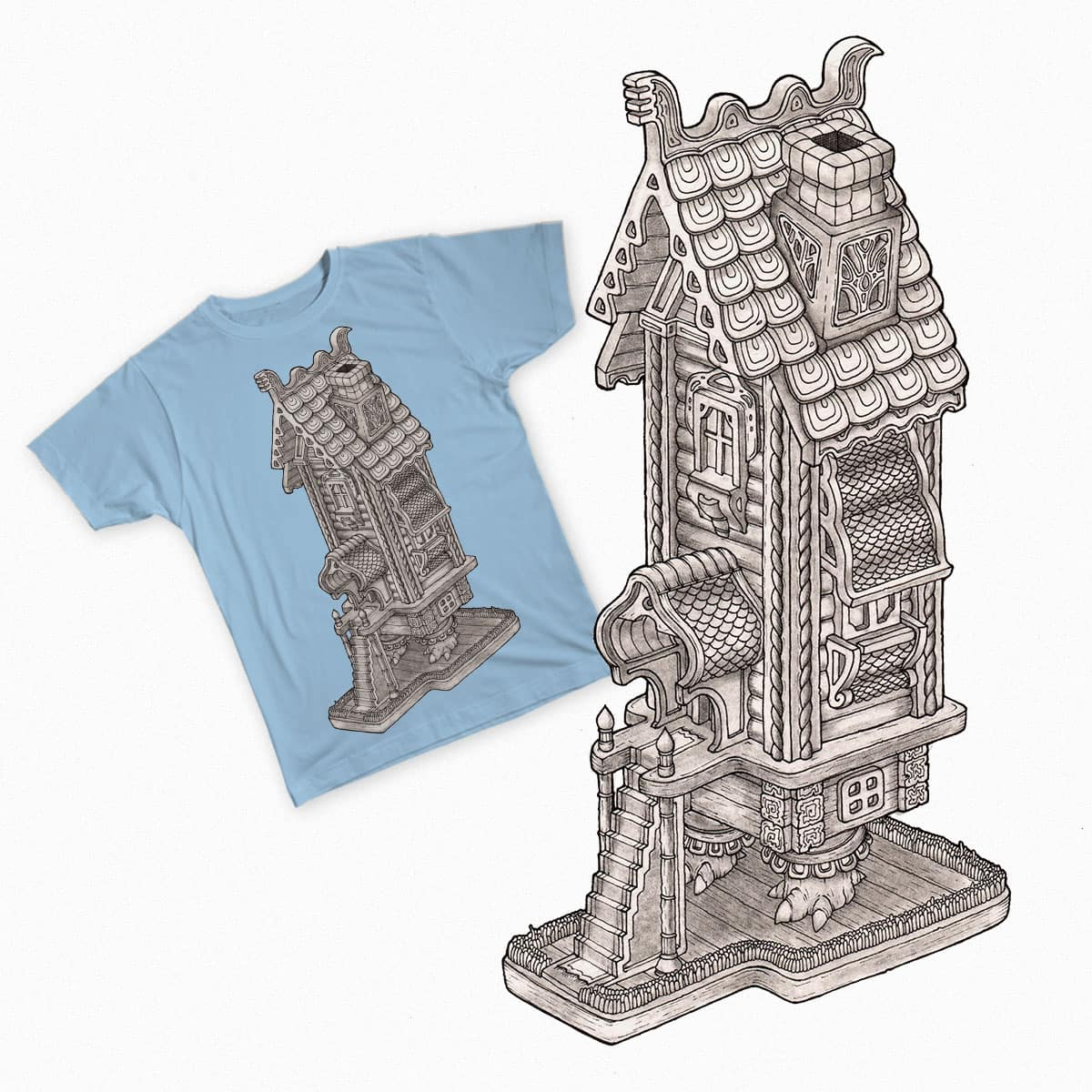 Hut by Astafyev on Threadless