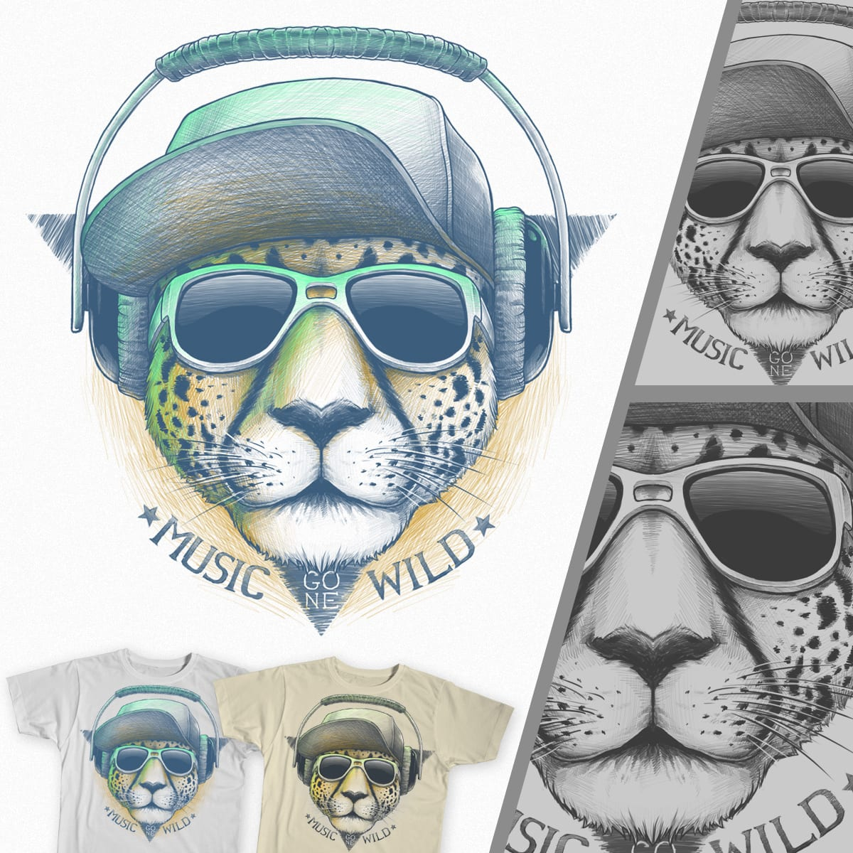 Music Gone Wild ! by BlackoutBrother on Threadless