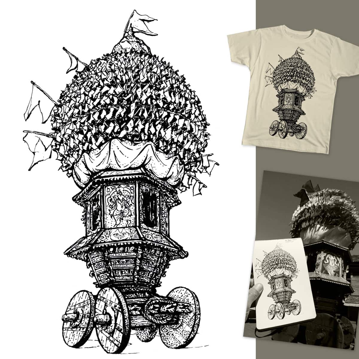 Moon Chariot  by dsds on Threadless