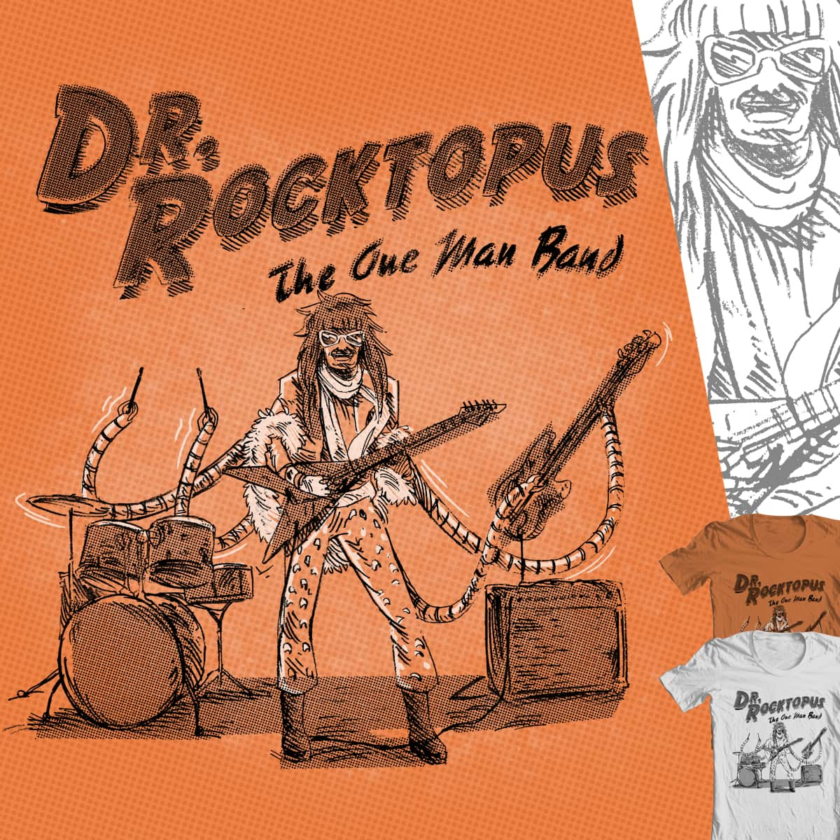Dr. Rocktopus by nerrik and FreeImagination on Threadless