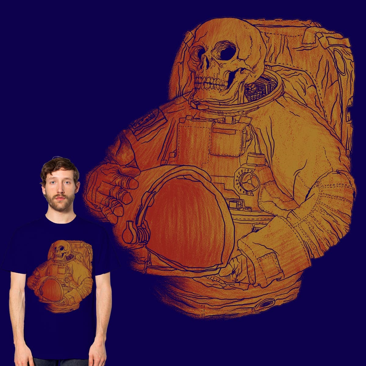 astronaut skull by gupikus on Threadless