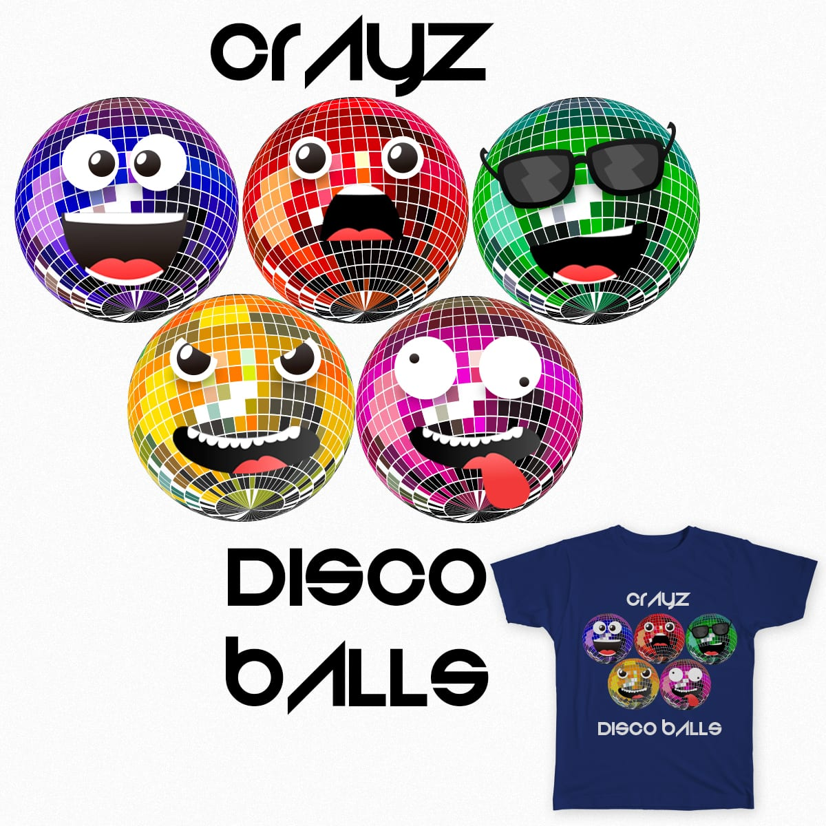 disco balls by osackmx on Threadless