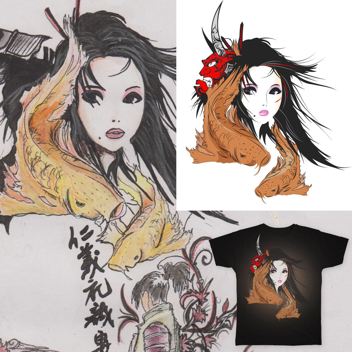 Geisha V2 by ZodiacFirefly on Threadless