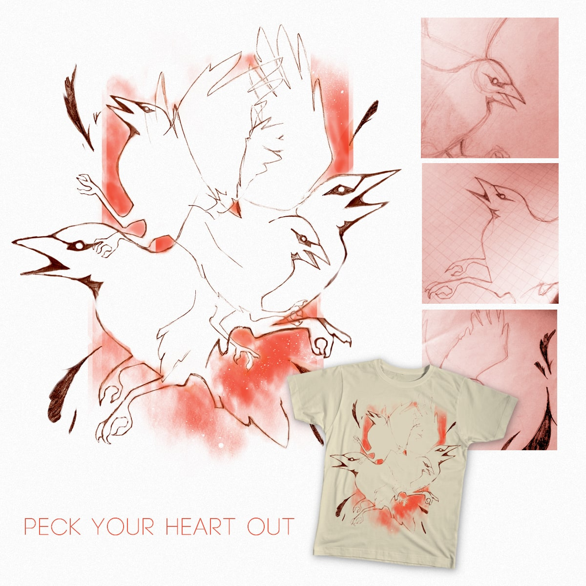 PeckYourHeartOut by zombiemongai on Threadless