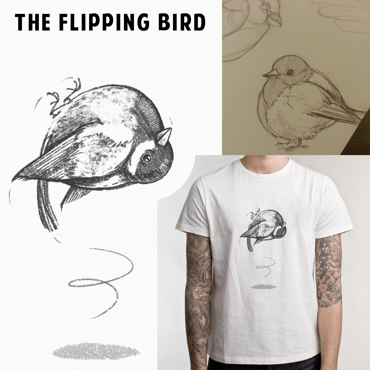 The Flipping Bird by Ellsswhere on Threadless