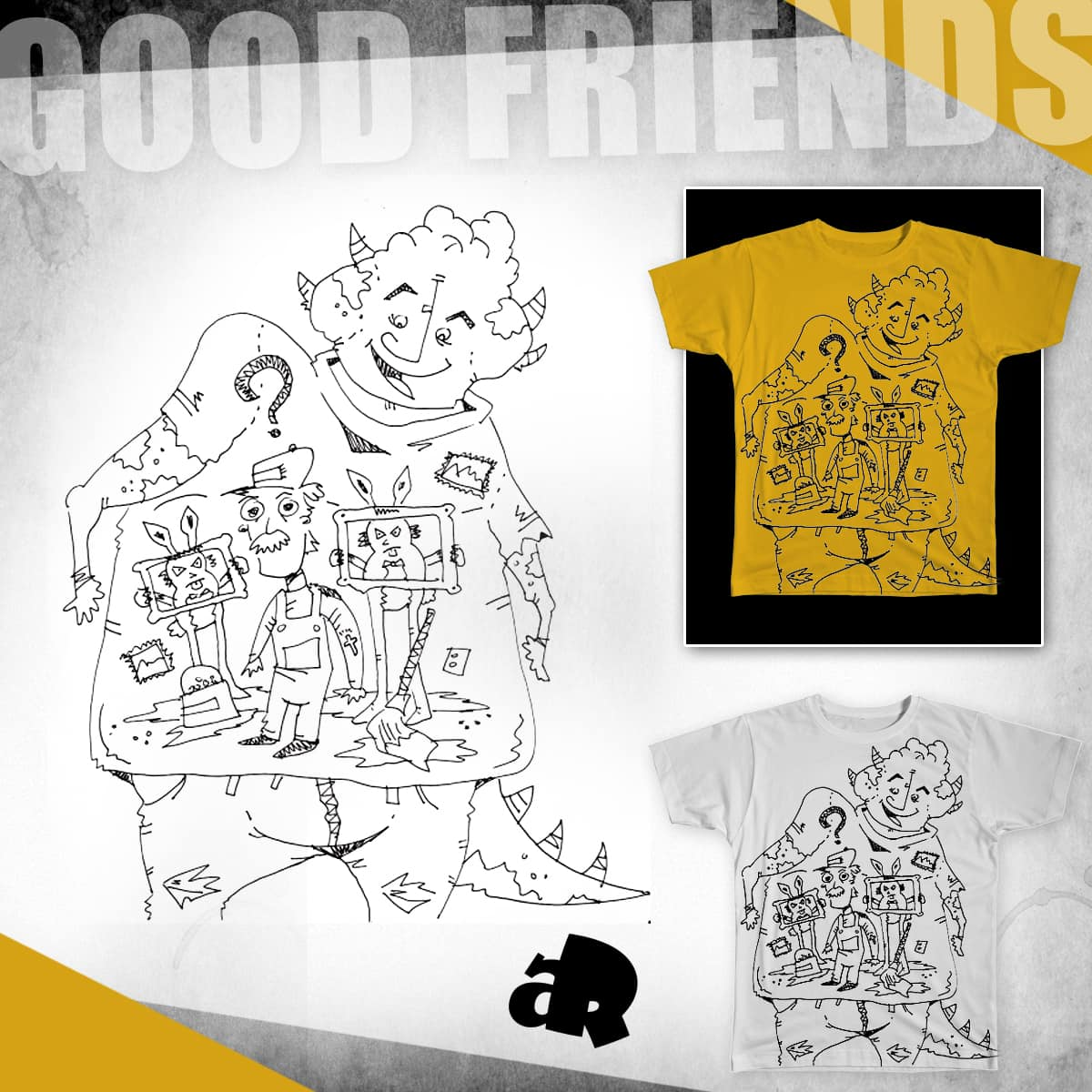 Good Friends by noraaapple on Threadless