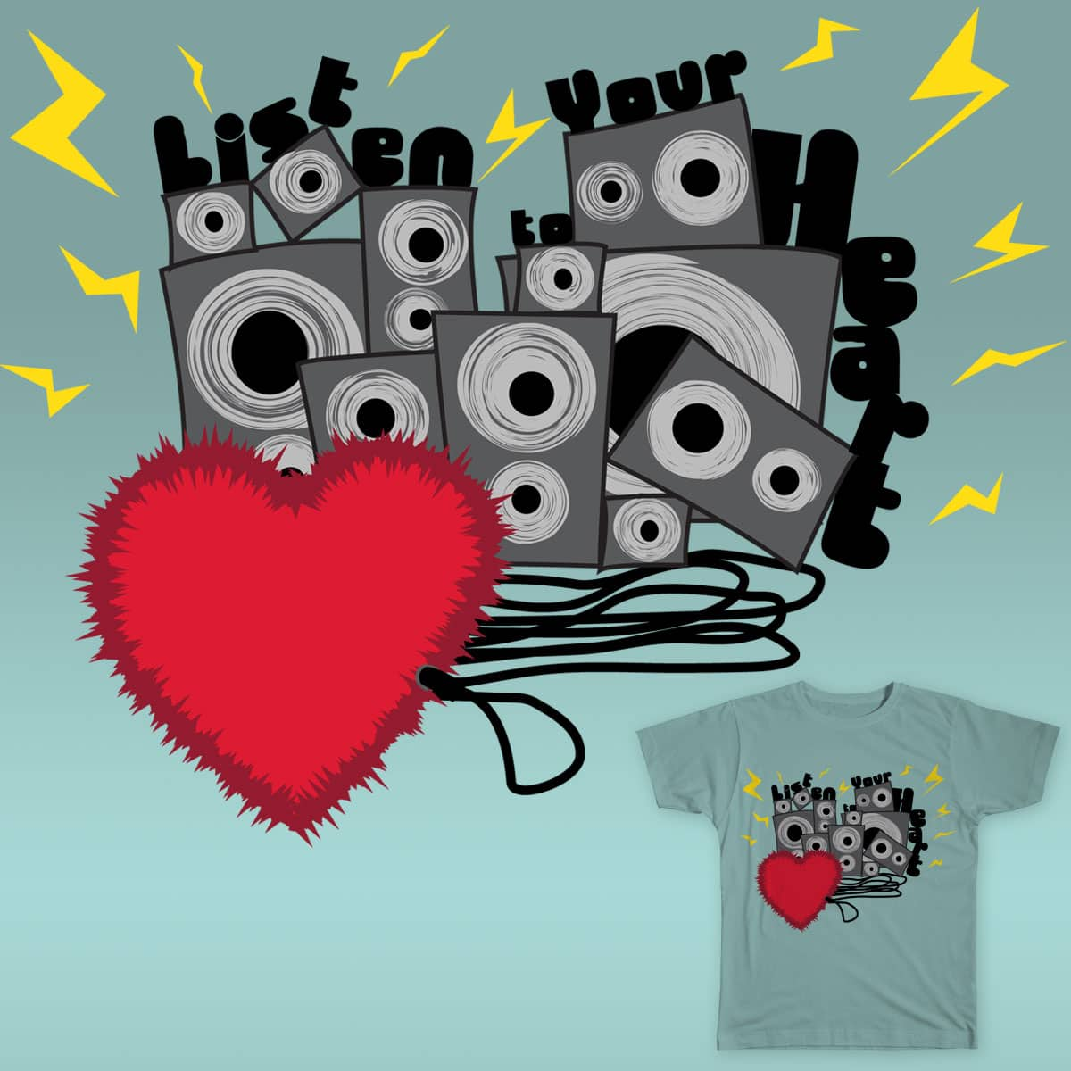 Listen to Your Heart by 3mm4nu31 on Threadless