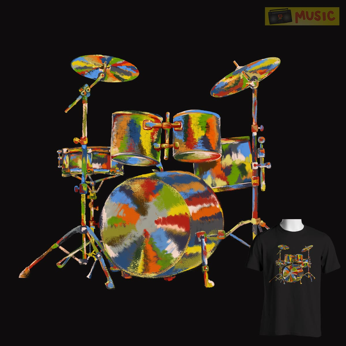 MUSICOLORS by masterpiece.ison on Threadless