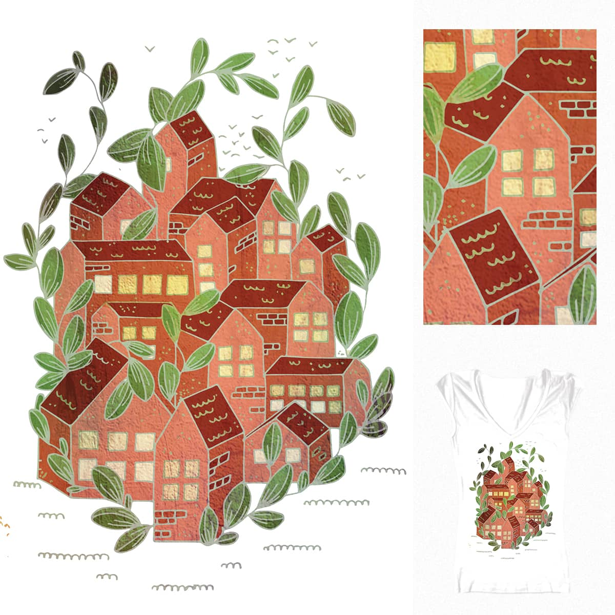 Plant village by Ingas on Threadless
