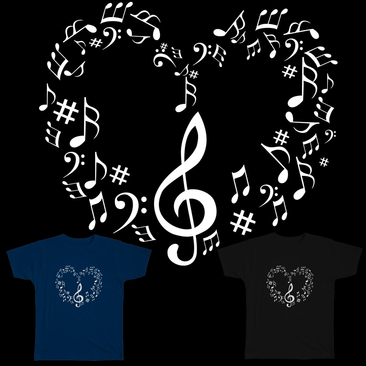 Music Love 4 by Desire_Art on Threadless