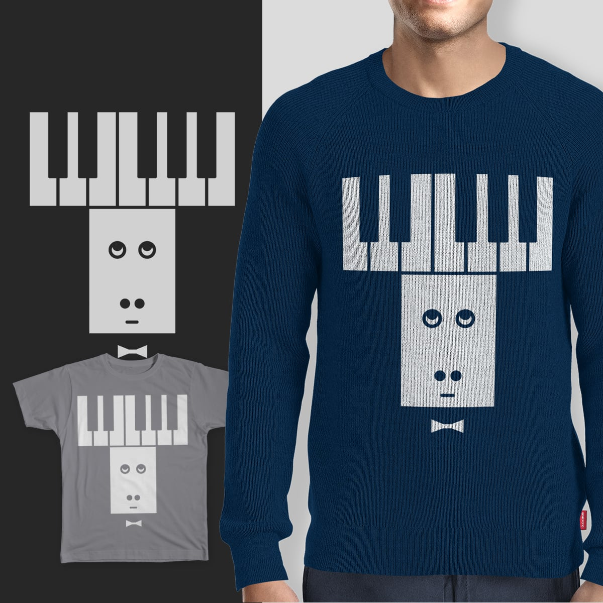 Piano moose by androoy on Threadless