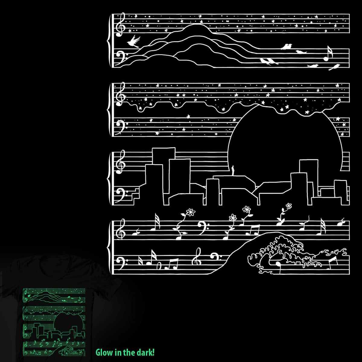 The Moonlight Sonata by tobiasfonseca on Threadless