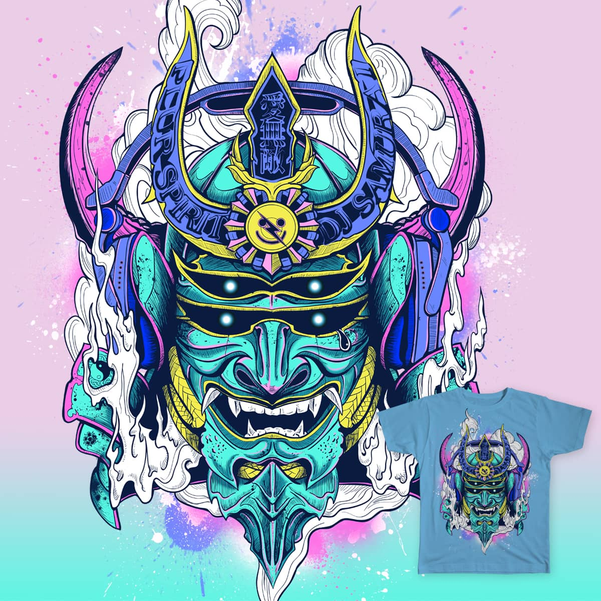 Romantic of Electronic Samurai by Loveattack47 on Threadless
