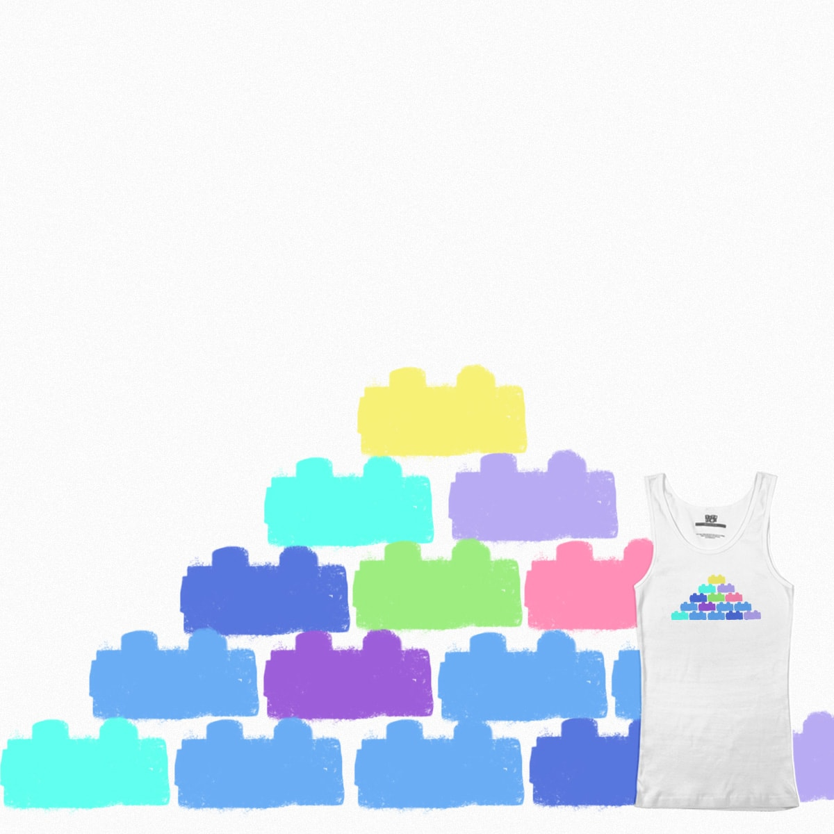 lego pyramid by YingHol_Chan on Threadless